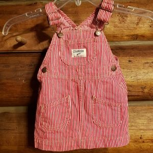 "Adorable ""Osh Kosh"" red/white dress"